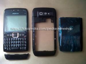 harga CASING NOKIA E71 HITAM FULLSET (Full Black) Tokopedia.com