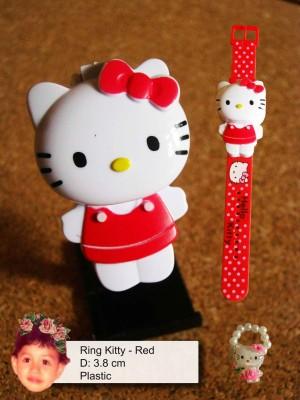 Jam Tangan Digital Anak Hello Kitty Cincin Warna Merah