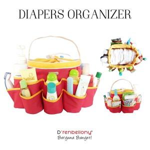 Diaper Organizer Red - Zinnia Yellow