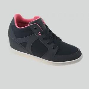 Sepatu Tomkins Woman Black Peach (Wedges Tersembunyi)