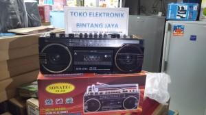 Radio Tape Bisa USB, Kartu Memori, Hands-free, AC-DC Sonatec PR-259