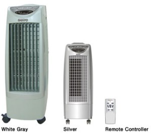 harga Air Cooler Sanyo REFB100 Semi AC Cooling Fan Remote Asli,Baru,Garansi Tokopedia.com
