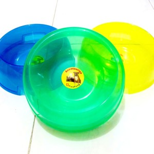 Dog Dish Round Transparant PF 105 T Kelinci Marmut Plastik