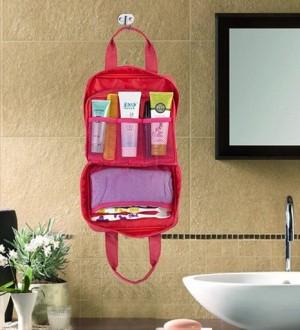 Tas 2 kantong tempat sabun shower bag cuci muka baju bedak bath