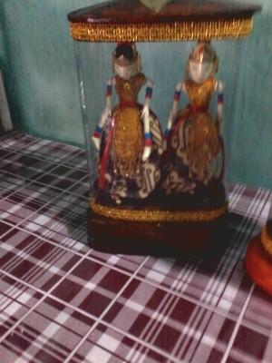 harga Central Kerajinan Ornamen Wayang Golek Tabung Double - Ungu Tokopedia.com