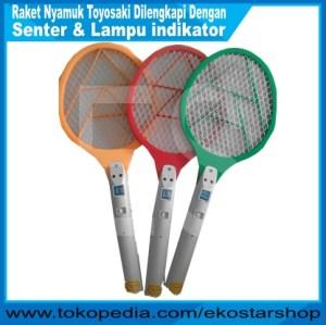 harga Raket nyamuk TOYOSAKI dilengkapi Lampu senter & Indikator Tokopedia.com