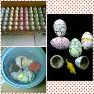 harga telur dinosaurus 45rb dpt 4 egg mainan anak kids bisa menetas di air Tokopedia.com