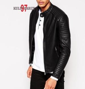 harga jaket kulit asli GARUT KG 97 084 SPORTY Tokopedia.com