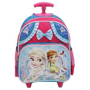 Tas Disney Frozen Pita Renda Trolley Anak Sekolah TK - Pink Biru