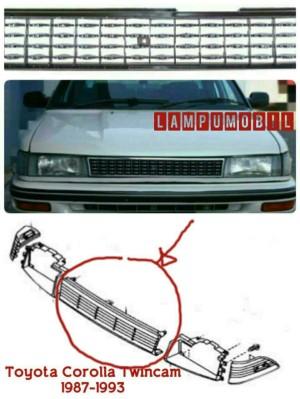 Grill Bumper Toyota Corolla Twincam 1987-1993