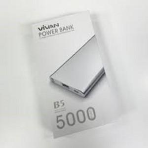 harga Vivan Power Bank Super Slim B5 Li-Ion Polymer - 5000 mAh Tokopedia.com