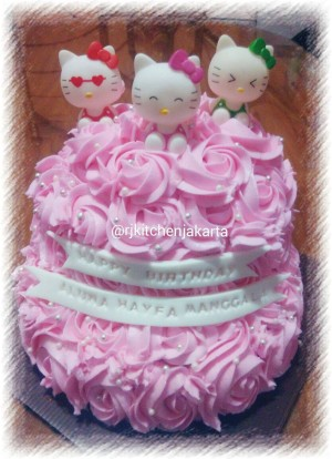 Jual Kue Ulang Tahun Hello Kitty 2 Tingkat Rj Kitchen