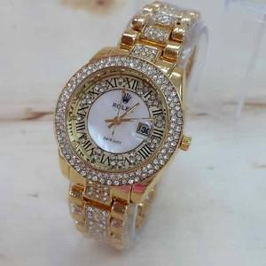 Jam Tangan Wanita Rolex Romawi Gold