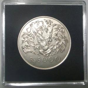Koin Perak 5000 Rupiah Tahun 1974