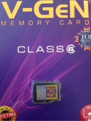 memory cards micro sd 4 gb v-gen