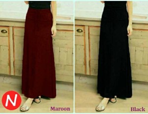 rok panjang pleated long skirt
