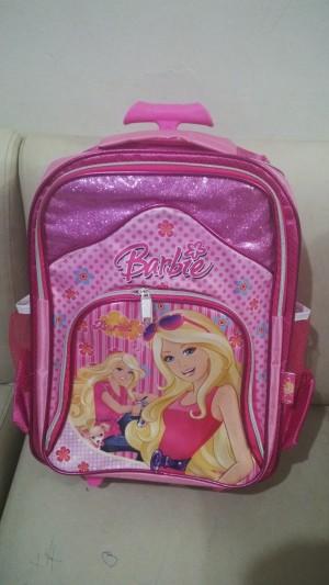 harga tas roda / trolley / troli & ransel anak sd barbie Tokopedia.com