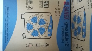 Kipas Angin Meja/Box Fan Sanex 12In-CDM
