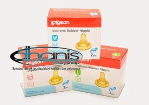 Dot Botol Susu Bayi Pigeon Isoprene Rubber Nipple M - Dhanis Baby Shop