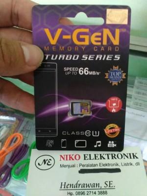 Micro SD Card V-GeN 8GB Turbo Series Class10 UHS I