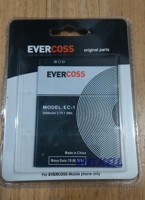 harga Evercoss EC-1 / A26B 2000mAh Batre/Baterai Original 100% /Ori/E-C1 A66 Tokopedia.com