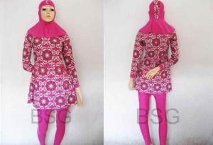 Baju Renang Muslim Dewasa | Kode Barang ADPOB-Pnk2, L