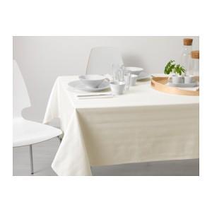 IKEA CAJA Taplak meja makan putih, Lebar 145 cm, Panjang 240 cm, 100%