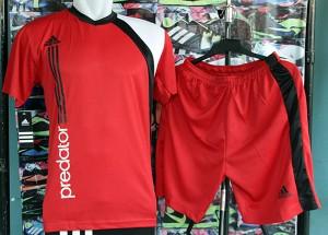 Kaos kostum Adidas 1 (setelan futsal,jersey,kaos team,baju futsal)