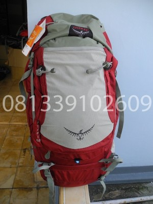 harga ransel carrier kerir Osprey Kestrel 68 Torso M/L jogja merah Tokopedia.com