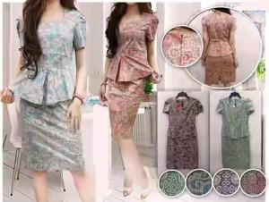 Jual Baju Batik Modern Wanita  Daranti Batik Peplum Mini Dress