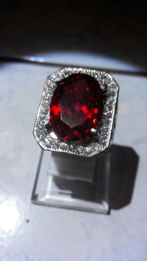 harga Batu Cincin Paparaca American Diamond Tokopedia.com