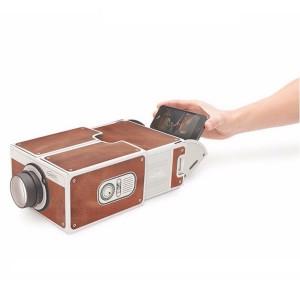 Portable Cardboard Smartphone Projector 2.0 - Brown