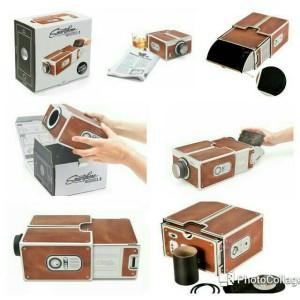 harga Cardboard Projector / Proyektor Cardboard untuk smartphone Tokopedia.com