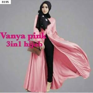 Jual Baju Muslim Terbaru Tanah Abang 3 In 1 Vanya Pink Hijab Butik 239113ec99
