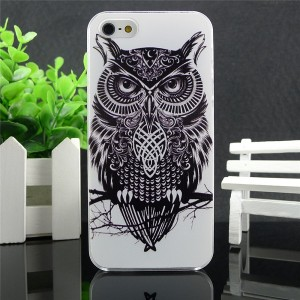 VINTAGE STYLE ANIMAL PRINT OWL BURUNG HARD CASE IPHONE 4 4S - 5 5S