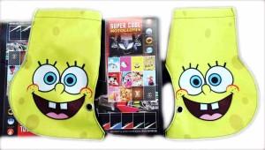 New !! sarung tangan anti panas tempel stang motor SUPERCOOL Spongebob