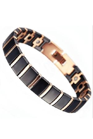 Black Gold Tungsten Magnetic Bracelet Gelang Pria Kesehatan Hitam Emas