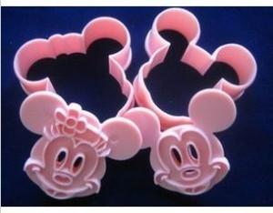 Cetakan Alat Cetak Pemotong Kue Kering Model Karakter Mickey Minnie 10