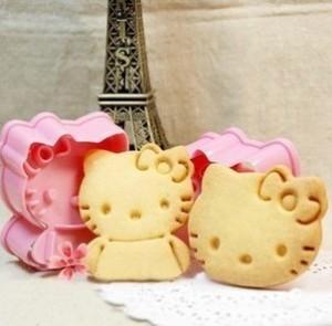 Cetakan Alat Cetak Pemotong Kue Kering Model Karakter Hello Kitty 56