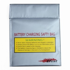 Tas pengaman Efest LiPo Safety Charging Bag Small Size - Silver