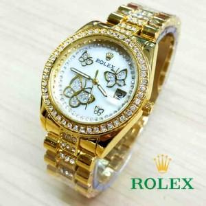 RLX03 FG Jam Tangan Wanita Rolex Kupu kupu FULL Gold RLX03FG