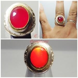 Touchscreen ! Cincin Batu Akik Darah Raja Ampat Red Baron Langka BN052