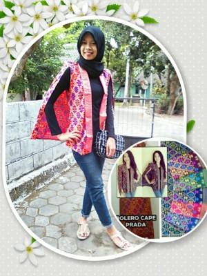 harga blazer batik/bolero batik/blazer cape/outer/atasan batik/songket/jogja Tokopedia.com