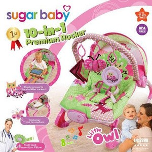 harga Bouncer Sugar Baby Premium 10 in 1 Little Owl (Dudukan Bayi) Tokopedia.com