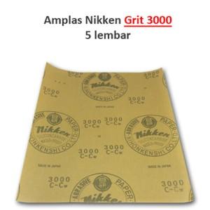 harga Amplas Cat Mobil Merk Nikken Grit 3000 - 5 lembar Tokopedia.com