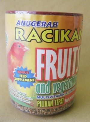 Makanan / Pakan Burung Kenari Anugerah Racikan Madura Fruits 450 gr