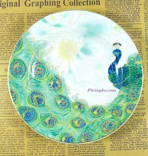 harga Piring Keramik Merak PO2204 Tokopedia.com
