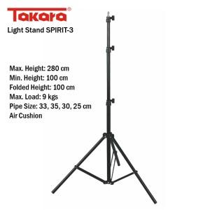Jual TAKARA Tiang Lampu/ Light Stand SPIRIT-3 - Grosir Aksesoris Kamera | Tokopedia