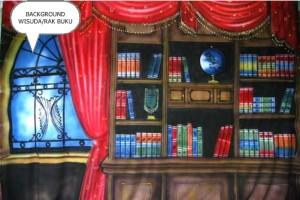Background Foto Rak Buku/Wisuda