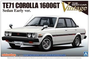 AOSHIMA 1/24 TE71 TOYOTA COROLLA GT / TOYOTA COROLLA DX